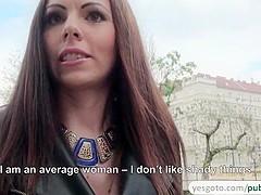 Horny Tiffany fucks a stranger for cash