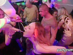 Horny kittens get absolutely foolish and nude at hardcore party