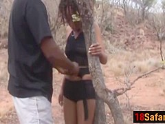 Black teen pussy in pain fucking outdoor