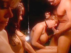 Amazing pornstars Renee Larue, Sydnee Steele and Anita Cannibal in best blowjob, group sex adult sce