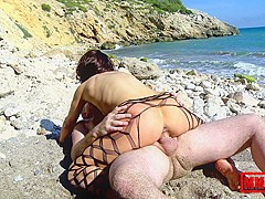 Heloise Dacosta & Terry in Wet Bitch At The Beach - MMM100