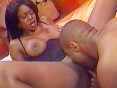 Horny pornstar Mary Jane in best big tits, black and ebony sex scene