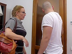 Steffi milf is sucking and fucking with her junior lover