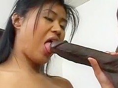 Sexy Asian Schoolgirl Enjoys Big Black Dick