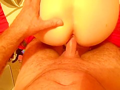 Guy fucks cheating wife doggy style making her cum