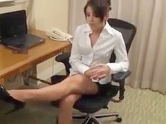Office worship nylon boss feets