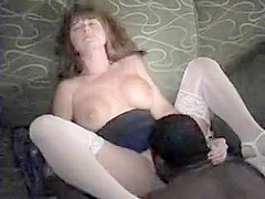 Blonde milf vagina full of large bla and gets her mouth