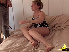 Ugly german bitch gets fucked