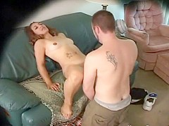 Spying on their fuck in the living room