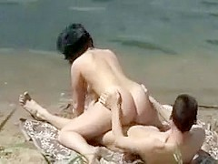 Pussy licking and fucking near a lake
