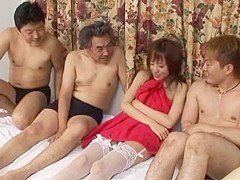 Fabulous Japanese girl Arisa Kanno in Best Gangbang, Stockings/Pansuto JAV scene
