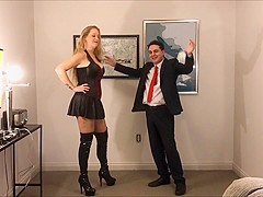 Mistress kristyna dark destroys the balls of andrea dipre