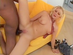 Crazy pornstar Stacy Thorn in horny interracial, blonde adult movie