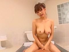 Horny Japanese model Kirara Kurokawa in Hottest POV, Bathroom JAV scene