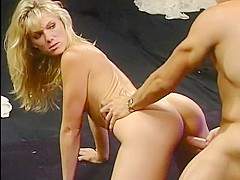 Crazy pornstar in incredible group sex, blonde adult clip
