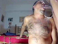 A Hairy Guy Gets Fucked and Cums