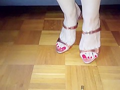 Footplay to protect toenails and sexy feet