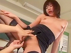 Crazy Japanese girl Ami Sakurai in Amazing Small Tits, Cunnilingus JAV video