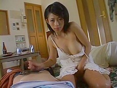 Exotic Japanese whore Sasa Handa in Crazy Handjobs, Wife JAV scene