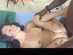 Interracial Creampie While Cuckold Husband Films