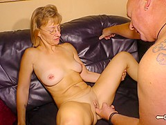 HAUSFRAU FICKEN - Blonde German newbie cheats on husband in mature amateur fuck with old guy 3