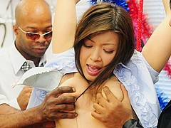 Nami Himemura in Nami Himemura gets her twat stimulated by black dudes - AviDolz