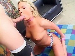 Hottest pornstar Flower Tucci in exotic facial, blonde sex clip