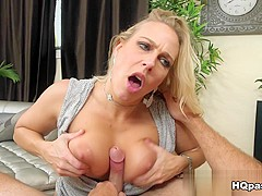 Best pornstars Levi Cash, Angel Allwood in Exotic MILF, Blonde porn scene