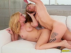 Horny pornstars Kirsten Lee, Bailey Brooke, Candice Ferguson in Fabulous College, Cunnilingus adult
