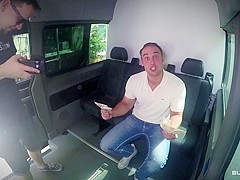 BUMS BUS - German MILF gets cum covered in naughty pickup and fuck in the bus