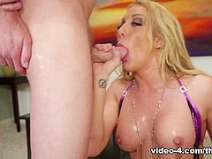 Hottest pornstar Amy Brooke in Incredible Deep Throat, Facial xxx scene