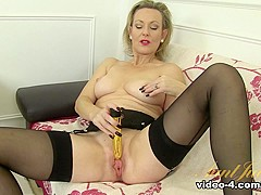 Best pornstar Betsy Blue in Incredible Stockings, Mature adult movie