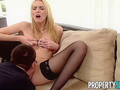Sexy Blonde Keira Nicole Enticed Into Sex Tape