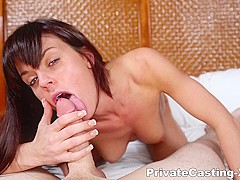 Private Casting-X - Her first ever facial