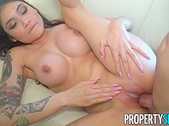 PropertySex Asian With Big Tits Brenna Sparks Fucks Landlord