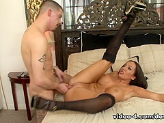 Incredible pornstar Richelle Ryan in Fabulous Stockings, Brunette adult movie