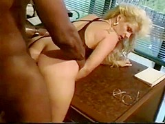 Butt pounded buxom blonde