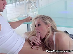 Hottest pornstar Julia Ann in Best MILF, Blonde porn scene