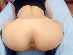 Anal masturbation with gapes, fart and prolapse