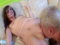 Exotic pornstar Lily Carter in crazy brunette, facial porn scene