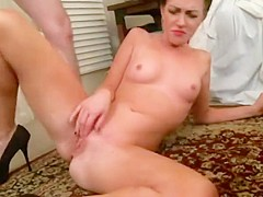 Face and pussy fucked girlfriend