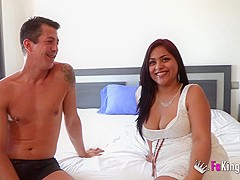 Fucking John while speaking to her cousin and getting him horny!