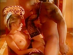 Amazing pornstar Bridgette Kerkove in crazy blonde, interracial sex scene