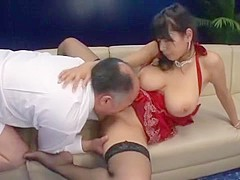 Crazy Japanese girl Honomi Uehara, Hana Haruna, Sawa Nakazato in Amazing Big Tits, Stockings/Pansuto