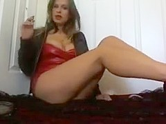 Mommy smoking a cigarette decides when your cock cums