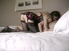 Fingering that skinny mature pussy while she blows me