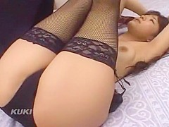 Crazy Japanese model Sho Nishino in Incredible Stockings, Doggy Style JAV scene