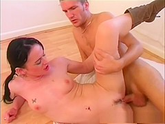 Amazing pornstar in incredible threesomes, brunette adult movie