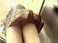 Woman white panties upskirt