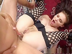 Incredible pornstar Dominica Leoni in fabulous fishnet, latina adult clip